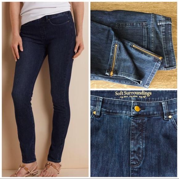 b71e1cdf21fd5 Soft Surroundings Jeans | Five Pocket Jean Leggings | Poshmark